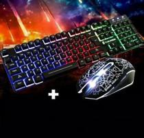 Kit Gamer Teclado Semi Mecânico + Mouse Gamer Led Rgb Gamer Anúncio com variação - Leon