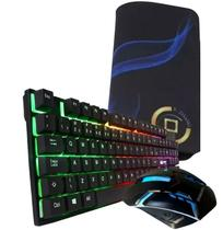 Kit Gamer Teclado Semi Mecânico + Mouse Gamer Led Rgb Gamer - Durawell
