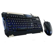 Kit Gamer Thermaltake Commander LED Azul Teclado + Mouse ABNT2 - KB-CMC-PLBLPB-01