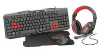 Kit Gamer TRUST ZIVA 4X1 Teclado/Mouse/Mouse Pad/ Headset T22428