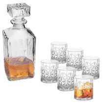 Kit Garrafa 700ml e 6 Copos 300ml de Whisky Hamilton/Stella - Rojemac