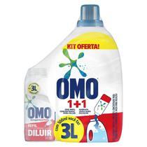Kit Garrafa Omo para Diluição + Lava Roupas Concentrado 500ml -