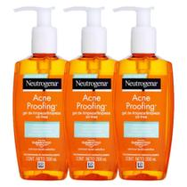 Kit Gel de Limpeza Neutrogena Acne Proofing 200mL  3 un. -