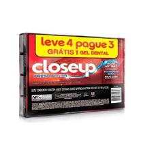 Kit Gel Dental Close Up Red Hot 90g Leve 4 Pague 3 - Close-up