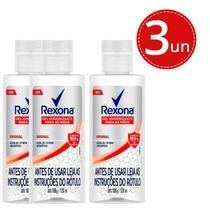Kit GEL Higienizador Rexona Original Elimina até 99,9% das Bactérias* 120ml - 3 Unidades -