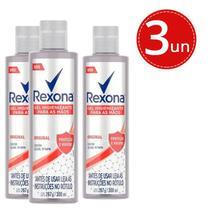 Kit Gel Higienizante Para As Mãos Rexona Original 300ml - 3 Unidades -