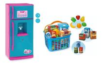 Kit geladeira infantil com som e luz+ feirinha usual -