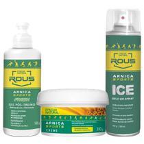 Kit gelo sports arnica gel spray e creme para dores lesões - D'Água Natural