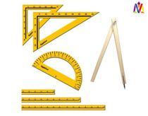 Kit Geométrico Professor 07 Peças em MDF - Régua 1M - Ciabrink