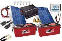 Kit Gerador de Energia Solar Off Grid 300Wp - Resun
