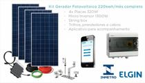 Kit Gerador Solar Fotovoltaico 220kwh/mês ON GRID - Elgin