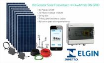 Kit Gerador Solar Fotovoltaico 440kwh/mês ON GRID - Elgin