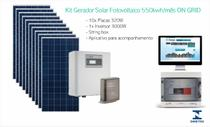 Kit Gerador Solar Fotovoltaico 550kwh/mês ON GRID - Elgin ecos