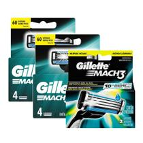 Kit Gillette com 10 Cargas Mach3 Regular -