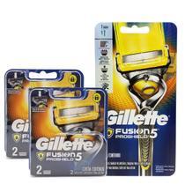 Kit Gillette Fusion Proshield - Aparelho de Barbear Completo + 4 Cargas -