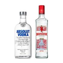 Kit Gin Beefeater Dry 750ml + Vodka Absolut 750ml -