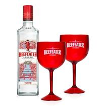 Kit Gin Beefeater London Dry 750ml + 2 Taças -
