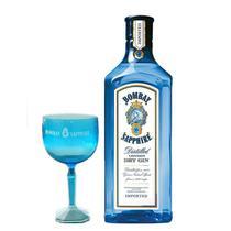 Kit Gin Bombay Sapphire 750ml + Taça de Acrílico 570ml - Padrão
