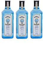 Kit Gin Bombay Sapphire Dry London 750ml 3 unidades -