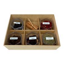 Kit Gin Casa 6 Especiarias Para Preparação De Gin & Tônica -