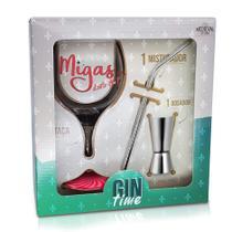 Kit Gin Time Migas + Dosador e Mexedor caixa presente - Lolla Concept