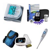 Kit Glicose Aparelho De Pressão Digital Oximetro Termometro - Microlife
