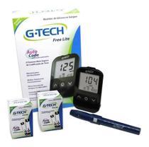 Kit Glicosimetro Medidor De Glicose Glicemia Free Lite Com 110 Tiras E 110 Lancetas - G-Tech