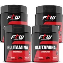 Kit Glutamina 4x300g Fitoway -