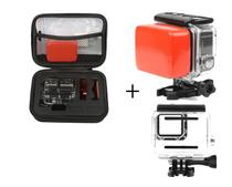 Kit GoPro 5 6 7 Hero Black Estojo De Armazenamento Caixa Estanque Boia Flutuante Esponja Traseira Com Adesivo 3M - Mega Vendas Online