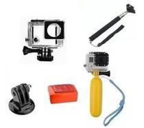 Kit Gopro Hero 4 Caixa Estanque Protetora Para Mergulho Pau De Selfie Com Tripod Boia Esponja Traseira Bastão Flutuante - Mega Vendas Online