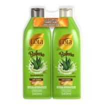 Kit Gota Dourada Babosa Shampoo + Condicionador 340ml cada -