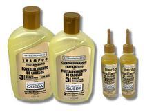 Kit Gota Dourada Shampoo E Condicionador + 2 Tônicos Power -