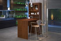 Kit Gourmet com Bancada Rubi Imbuia Finestra -