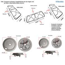 Kit grelhas + bacias para fogões electrolux 76 bs -