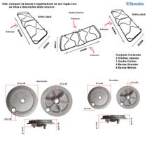 Kit grelhas + bacias para fogões electrolux 76 ub -
