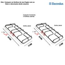 Kit grelhas laterais para fogões electrolux 4 bocas 56 ut -