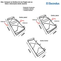 Kit grelhas p/ fogões tripla chama electrolux 5 bocas 76 ubq -