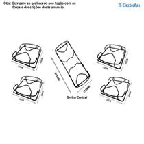 Kit grelhas para fogões tripla chama electrolux 5 bocas 76 srx -