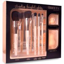 Kit Griffty Studio Highlights 5 Pincéis + 2 Esponjas Gk-01 -