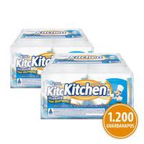 Kit Guardanapo Kitchen Folha Simples 24 Pacotes 22X22 Cm Com 50 Folhas Cada -