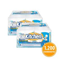 Kit Guardanapo Kitchen Folha Simples 24 Pacotes 33X30 Cm Com 50 Folhas Cada -
