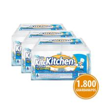 Kit Guardanapo Kitchen Folha Simples 36 Pacotes 22X22 Cm Com 50 Folhas Cada -
