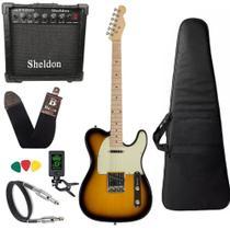 Kit Guitarra Michael GM385N Vintage Sunburst Amplificador -