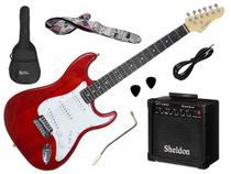 Kit Guitarra Stratocaster Giannini G 100 3 Singles + Amplificador e Acessórios -