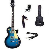 Kit Guitarra Strinberg Les Paul LPS230 + Afinador Digital + Acessórios Azul -