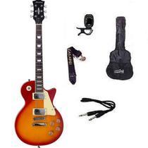 Kit Guitarra Strinberg Les Paul LPS230 + Afinador Digital + Acessórios Cherry -