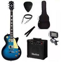 Kit Guitarra Strinberg Les Paul LPS230 + Amplificador + Afinador Digital + Acessórios Azul -