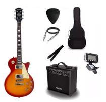 Kit Guitarra Strinberg Les Paul LPS230 + Amplificador + Afinador Digital + Acessórios Cherry -
