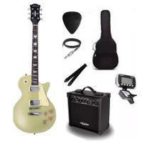 Kit Guitarra Strinberg Les Paul LPS230 + Amplificador + Afinador Digital + Acessórios Dourada -