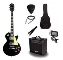Kit Guitarra Strinberg Les Paul LPS230 + Amplificador + Afinador Digital + Acessórios Preta -